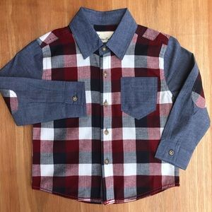 Boys Long Sleeve Checkered Shirt